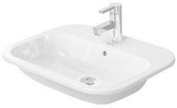 DURAVIT - Happy D.2 Umývadlo s prepadom, 600 mmx460 mm, biele – jednootvorové umývadlo (0483600000)