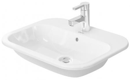 DURAVIT - Happy D.2 Umývadlo s prepadom, 600 mmx460 mm, biele – trojotvorové umývadlo (0483600030)