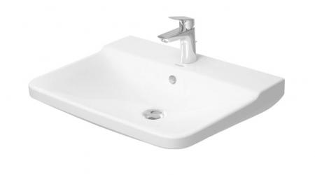 DURAVIT - P3 Comforts Umývadlo s prepadom, 650 mmx500 mm, biele – jednootvorové umývadlo (2331650000)