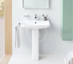 DURAVIT - P3 Comforts Umývadlo s prepadom, 650 mmx500 mm, biele – jednootvorové umývadlo (2331650000), fotografie 4/3