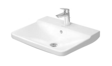 DURAVIT - P3 Comforts Umývadlo s prepadom, 600 mmx470 mm, biele – jednootvorové umývadlo (2331600000)