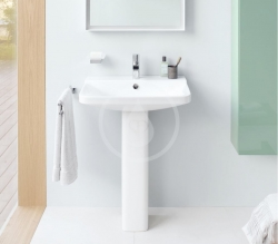DURAVIT - P3 Comforts Umývadlo s prepadom, 600 mmx470 mm, biele – jednootvorové umývadlo (2331600000), fotografie 4/3