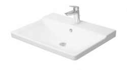 DURAVIT - P3 Comforts Umývadlo do nábytku s prepadom, 650 mmx500 mm, biele – jednootvorové umývadlo (2332650000)