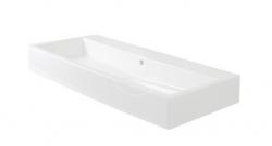DURAVIT - Vero Bezotvorové umývadlo s prepadom, 1000 mmx470 mm, biele (0454100060)