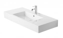DURAVIT - Vero Trojotvorové umývadlo do nábytku s prepadom, 1050 mmx490 mm, biele (0329100030)