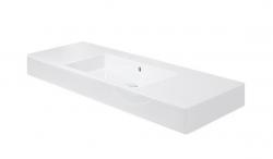 DURAVIT - Vero Bezotvorové umývadlo do nábytku s prepadom, 1250 mmx490 mm, biele (0329120060)