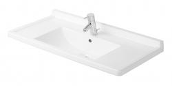 DURAVIT - Starck 3 Umývadlo s prepadom, 850 mmx485 mm, biele – trojotvorové umývadlo (0304800030)