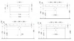 DURAVIT - Vero Umývadlo s prepadom, 1200 mmx470 mm, biele – bezotvorové umývadlo (0454120060), fotografie 8/4