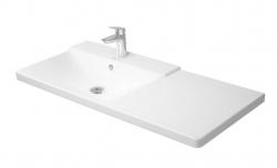 DURAVIT - P3 Comforts Umývadlo do nábytku asymetrické s prepadom, 1050 mmx500 mm, biele – trojotvorové umývadlo (2333100030)