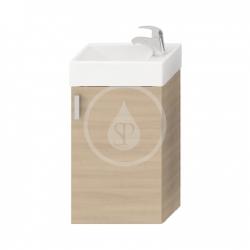 JIKA - Petit Skrinka s umývadielkom, 386mmx221mmx585mm – skrinka, korpus čerešňa, dvere čerešňa (H4535111753081)