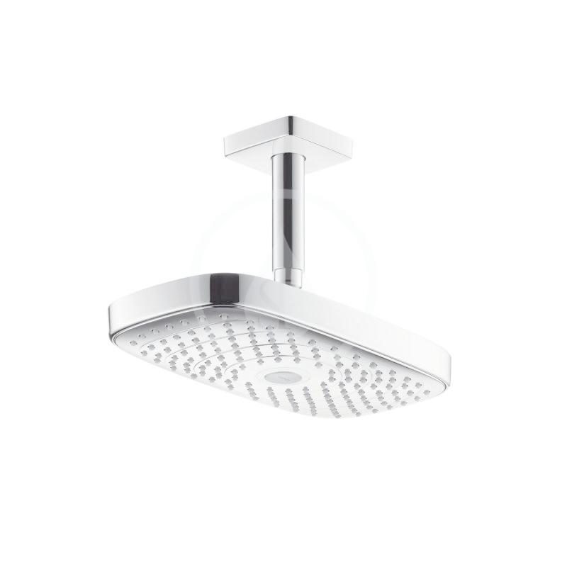 HANSGROHE - Raindance Select E Horní sprcha 300 2jet s přívodem od stropu 100 mm, EcoSmart, chrom (26608000)