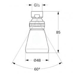 GROHE - Relexa plus Hlavová sprcha 50 s jedným prúdom, chróm (28094000), fotografie 2/1