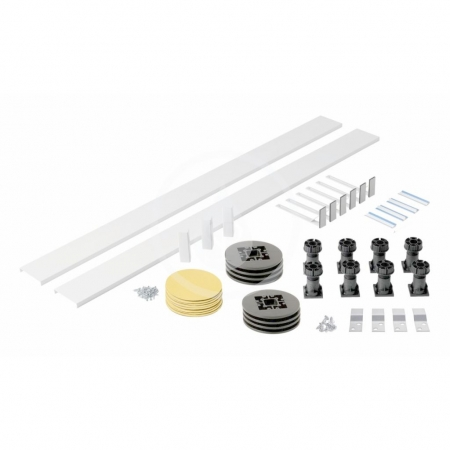 IDEAL STANDARD - Simplicity Stone Podpora a čelný panel k štvrťkruhové vaničke, univerzálne, biela (L631001)