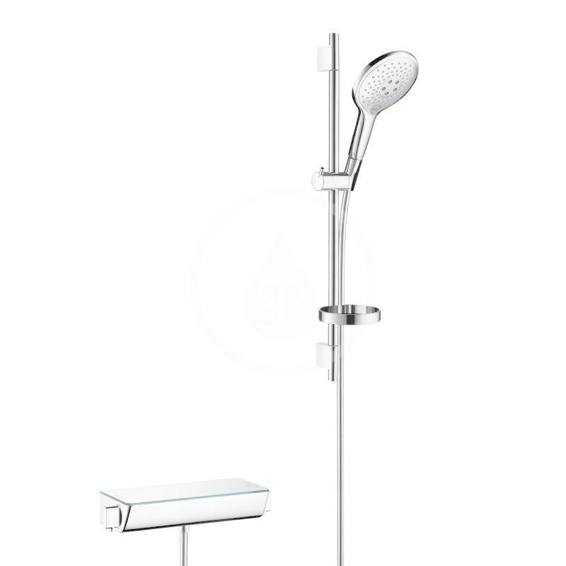 HANSGROHE HANSGROHE - Raindance Select S Sprchový set s termostatem, 150 mm, 3 proudy, bílá/chrom (27036400)