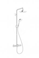 HANSGROHE - Croma Select S Sprchová súprava 180 2jet Showerpipe EcoSmart 9 l/min, biela/chróm (27254400)