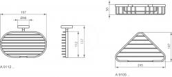 IDEAL STANDARD - IOM Drôtený držiak na mydlo, chróm (A9112AA), fotografie 2/2
