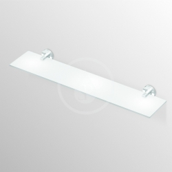 IDEAL STANDARD - IOM Sklenená polička 520x138x48mm, satinované sklo, chróm (A9124AA), fotografie 4/3