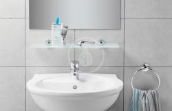 IDEAL STANDARD - IOM Sklenená polička 520x138x48mm, satinované sklo, chróm (A9124AA), fotografie 6/3