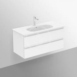 IDEAL STANDARD - Tesi Skrinka pod umývadlo, 1000x440x490 mm, lesklá biela (T0052OV), fotografie 4/5
