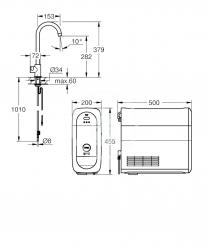 GROHE - Blue Home Drezový ventil Mono Connected, s chladiacim zariadením a filtráciou, chróm (31498001), fotografie 8/7