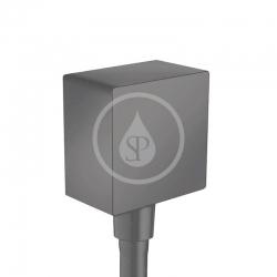 HANSGROHE - Fixfit Prípojka hadice Square so spätným ventilom, matná čierna (26455670)