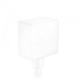 HANSGROHE - Fixfit Prípojka hadice Square so spätným ventilom, matná biela (26455700)