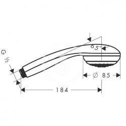 HANSGROHE - Crometta 85 Ručná sprcha Green 1jet, chróm (28561000), fotografie 6/3