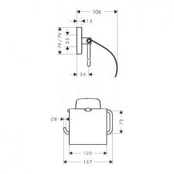 HANSGROHE - PuraVida Držiak kotúča toaletného papiera, chróm (41508000), fotografie 2/1