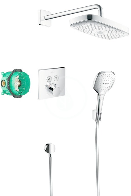 HANSGROHE HANSGROHE - Raindance Select E Sprchový set 300 s termostatem ShowerSelect, 2 proudy, chrom (27296000)