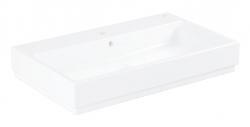 GROHE - Cube Ceramic Umývadlo s prepadom, 800mm x 490 mm, PureGuard, alpská biela (3947600H)