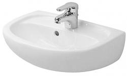 DURAVIT - Duraplus Umývadlo s prepadom Compact, 450 mmx310 mm, biele – jednootvorové umývadlo, s WonderGliss (07974500001)