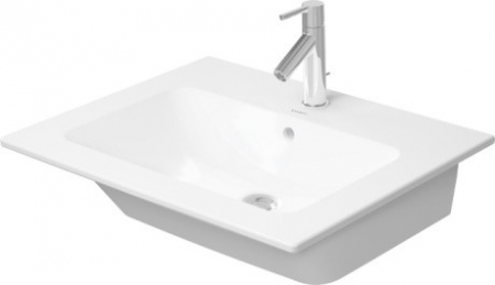 DURAVIT - ME by Starck Umývadlo nábytkové 630x490 mm, s 1 otvorom na batériu, alpská biela (2336630000)