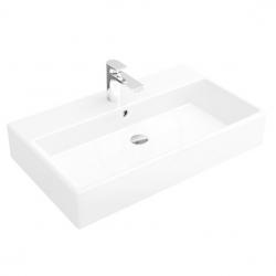 VILLEROY & BOCH - Memento Umývadlo, 800 mm x 470 mm, biele – jednootvorové umývadlo, s prepadom (51338L01)