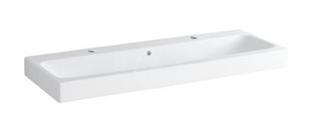 GEBERIT - iCon Umývadlo, 1200 mm x 485 mm, biele - dvojotvorové umývadlo, s KeraTect (124020600)