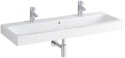 GEBERIT - iCon Umývadlo, 1200 mm x 485 mm, biele - dvojotvorové umývadlo, s KeraTect (124020600), fotografie 4/4