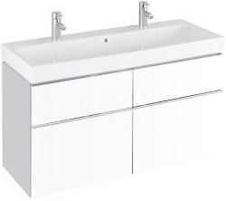 GEBERIT - iCon Umývadlo, 1200 mm x 485 mm, biele - dvojotvorové umývadlo, s KeraTect (124020600), fotografie 2/4