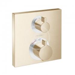 HANSGROHE - Ecostat Square Termostatická batéria pod omietku na 2 spotrebiče, kefovaný bronz (15714140)