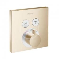 HANSGROHE - Shower Select Termostatická batéria pod omietku na 2 spotrebiče, kefovaný bronz (15763140)