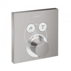 HANSGROHE - Shower Select Termostatická batéria pod omietku na 2 spotrebiče, kefovaný čierny chróm (15763340)