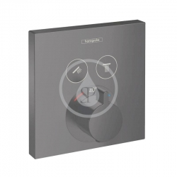 HANSGROHE - Shower Select Termostatická batéria pod omietku na 2 spotrebiče, matná čierna (15763670)