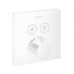 HANSGROHE - Shower Select Termostatická batéria pod omietku na 2 spotrebiče, matná biela (15763700)