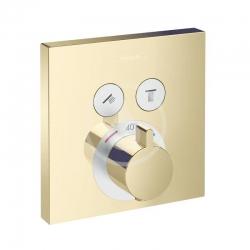 HANSGROHE - Shower Select Termostatická batéria pod omietku na 2 spotrebiče, leštený vzhľad zlata (15763990)