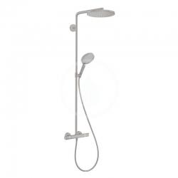 HANSGROHE - Raindance Select S Sprchový set Showerpipe s termostatom, 1 jet, kefovaný čierny chróm (27633340)