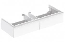 GEBERIT - iCon Skrinka pod dvojumývadlo 1200 mm, 2 zásuvky, matná biela (841120000)