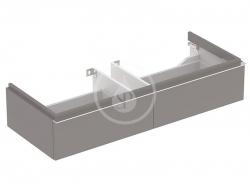 GEBERIT - iCon Skrinka pod dvojumývadlo 1200 mm, 2 zásuvky, lávová (841121000)