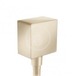 HANSGROHE - Fixfit Prípojka hadice Square so spätným ventilom, kefovaný bronz (26455140)
