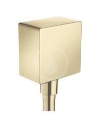 HANSGROHE - Fixfit Prípojka hadice Square so spätným ventilom, leštený vzhľad zlata (26455990)