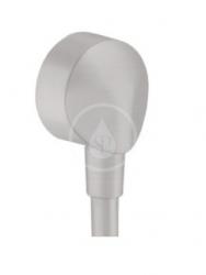 HANSGROHE - Fixfit Prípojka hadice E bez spätného ventilu, kefovaný čierny chróm (27454340)