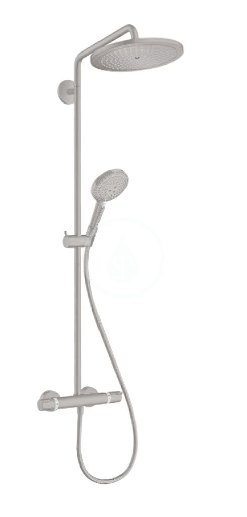 HANSGROHE HANSGROHE - Croma Select S Sprchový set Showerpipe 280 s termostatom, kefovaný čierny chróm 26890340