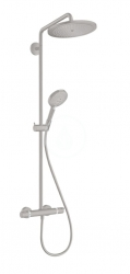HANSGROHE - Croma Select S Sprchový set Showerpipe 280 s termostatom, kefovaný čierny chróm (26890340)